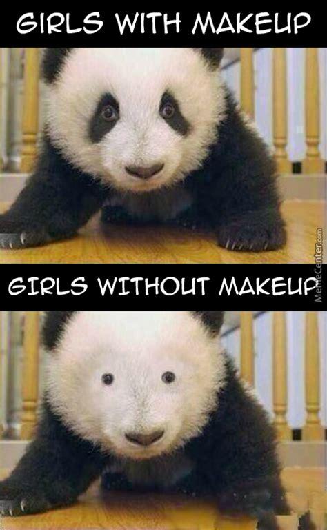Panda Mascara Meme - panda without makeup meme mugeek vidalondon