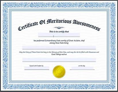 Certificate Meritorious Awesomeness Preorder Heath Brothers