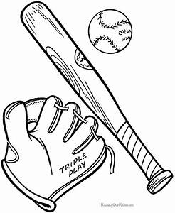 Baseball Bat clipart coloring page - Pencil and in color ...
