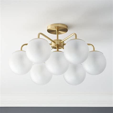vega brushed brass flush mount lamp cb