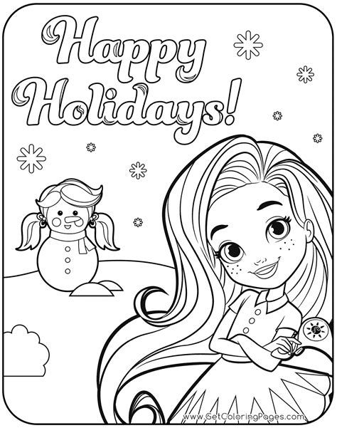 happy holidays  sunny day coloring page  coloring