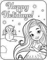 Sunny Coloring Pages Happy Holidays Nickelodeon Printable Blair Friends Rox Getcoloringpages Hair Getdrawings Getcolorings sketch template