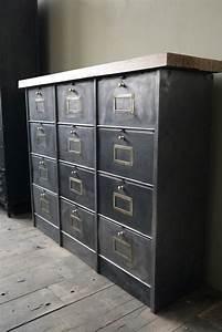 Meuble Casier Rangement : ancien meuble console 12 casiers industriel a clapet roneo 1940 plateau chene massif ~ Teatrodelosmanantiales.com Idées de Décoration