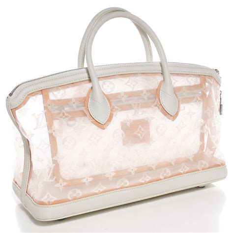 louis vuitton monogram transparence lockit east west white