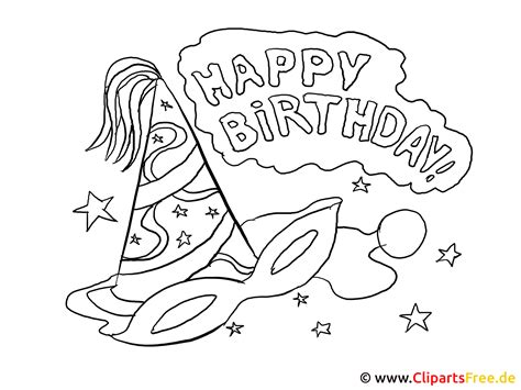 mal bilder zum ausmalen happy birthday