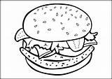 Hamburger Sheet Burger Coloring Cheeseburger Template Sheets sketch template