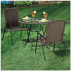 view wilson fisher 174 resin wicker 3 piece folding dining