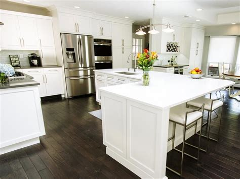shaped kitchen islands before and after l shaped kitchen remodels kitchens