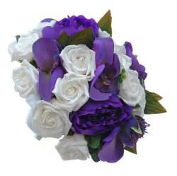 orchid wrist corsage brides purple peony orchid wedding bouquet with white