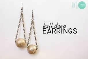 diy gilded drop earrings minted strawberry
