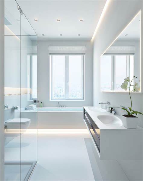 designing a bathroom three apartments with special lighting schemes