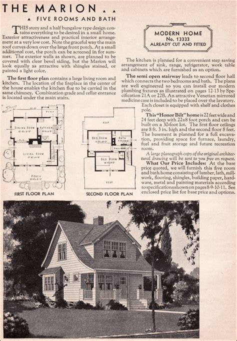 sears kit house model   marion honor bilt modern bungalow