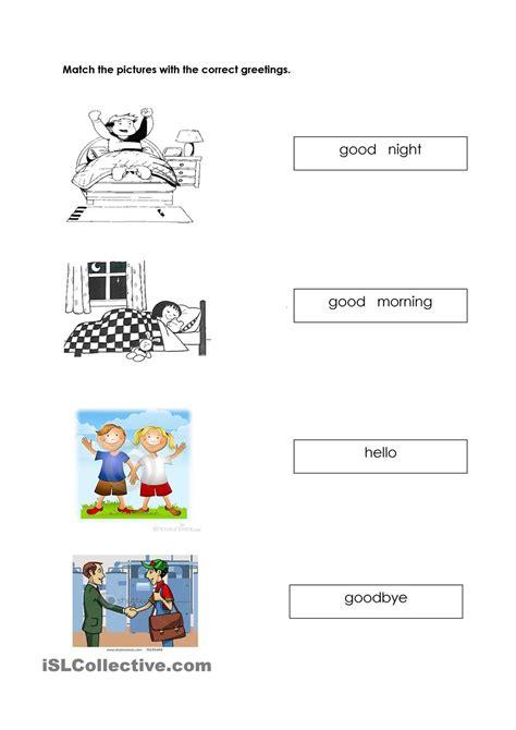 greetings worksheets worksheets