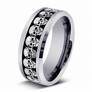 men wedding bands 9 cool skull wedding band woman With skull wedding rings for men