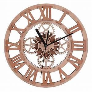 Horloge Murale Bois : giftgarden horloge murale en bois design silencieux engrenage vintage achat vente horloge ~ Teatrodelosmanantiales.com Idées de Décoration