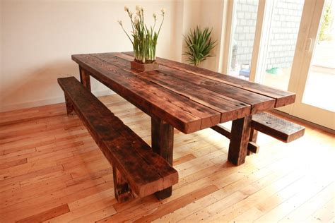 Dining Room Set With Bench Reclaimed Barnwood Dining Room