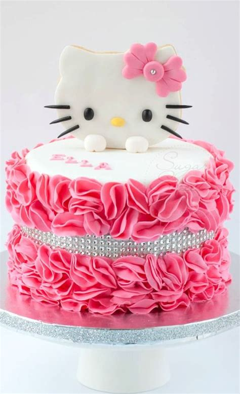 Cat cake.make this guy siamese with tan base and dark brown ears nose/cheeks and bright blue eyes. The 25+ best Hello kitty birthday cake ideas on Pinterest | Hello kitty fondant, Hello Kitty ...
