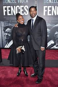 Denzel Washington and Wife at Fences Premiere in NYC ...