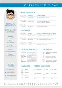 curriculum vitae for a graphic designer free modern cv resume design template for graphic designers