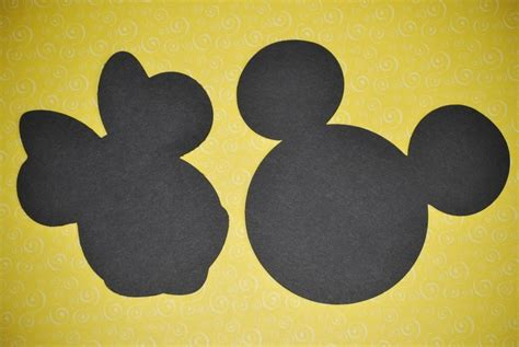 mickey  minnie mouse silhouette