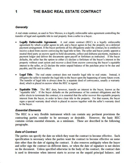 business sale contract free template vic 13 real estate contract templates word pages docs
