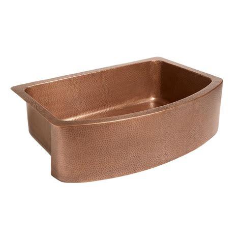 sinks kitchen undermount sinkology ernst farmhouse apron front handmade copper 33 2286