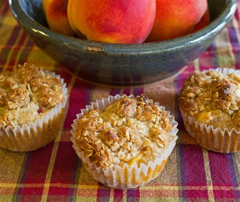 Peach Oatmeal Muffins Hearty Filling