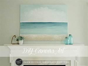 Repurposed Canvas Art DIY — Elizabeth Burns Design
