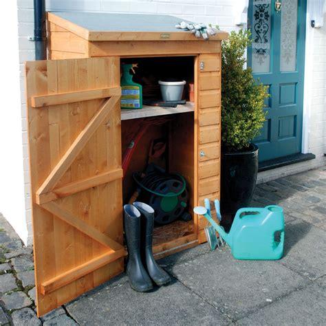 Wooden Garden Storage by Mini Shiplap Pent Wooden Garden Storage Unit Departments