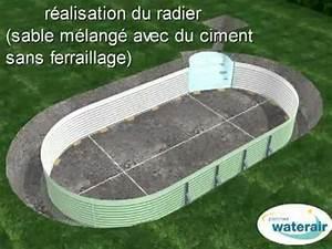 montage 3d d39une piscine waterair youtube With prix piscine couverte chauffee construction
