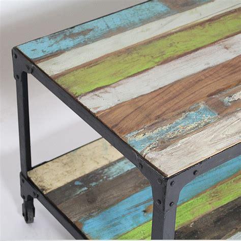 chaise bureau bois table basse bois métal plateau coloré made in meubles