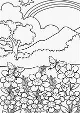 Nature Coloring Pages Printable sketch template