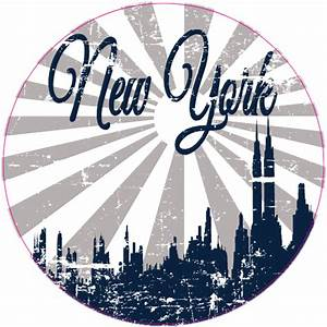 new york retro distressed sticker us custom stickers With custom stickers nyc