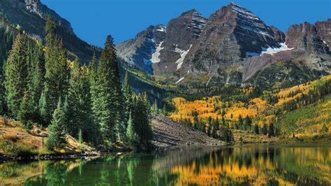 Forêts Colorado Cloches Marron D'automne Vont Papier Peint