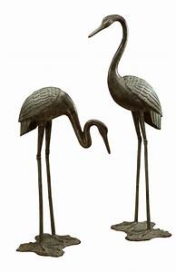 Large Garden Crane Pair Sculpture by SPI Home $3190, You
