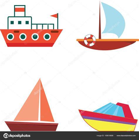 Imagenes De Barcos Vector by Dibujos Animados Barcos Y Cruceros Vector Plano Aislado