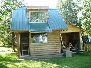 Cabanon En Bois : construction d 39 un chalet en bois rond ~ Mglfilm.com Idées de Décoration