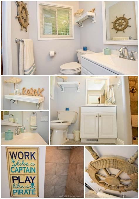 pink  chic  nautical bathroom remodel horrible