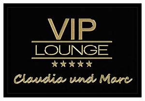 Fußmatte Vip Lounge : fu matten und andere wohntextilien von creativgravur online kaufen bei m bel garten ~ Whattoseeinmadrid.com Haus und Dekorationen