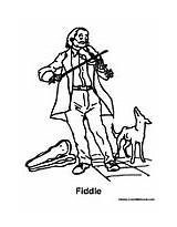 Fiddle Coloring Pages Dog Playing Colormegood sketch template