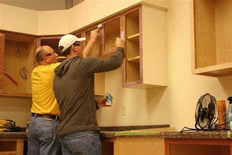cabinet refacing  painted solidtone veneer