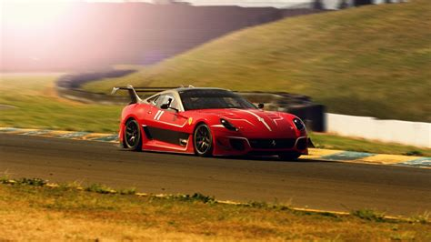 Ferrari 599 599xx Race Track Race Car Wallpaper