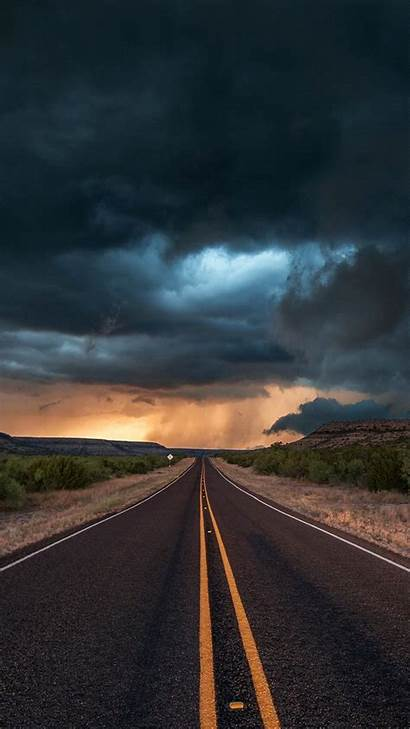 Iphone Road Clouds Texas Wallpapers State Nature
