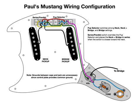 fender mustang series parallel wiring wiring diagrams