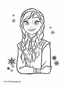 Frozen - Princess Anna coloring page