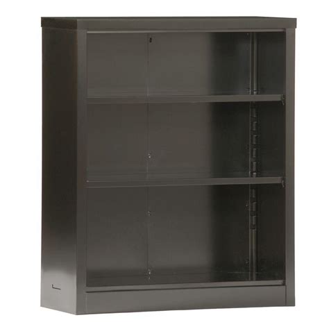 Heavy Duty Bookcase by Steel Bookcase 3 Adjustable Shelves Heavy Duty Base Black