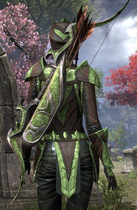 eso fashion glass mahogany bow elder scrolls