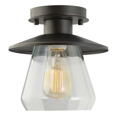 globe electric 64846 rubbed bronze 1 light semi flush