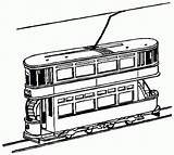 Train Coloring Tram Pages York Toy Trains Clipart Printable Double Decker Outline Drawings Cliparts Colouring 9d66 Drawing Print Freight Sketch sketch template