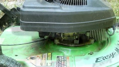 Broken Throttle Cable On Our Old Lawn Mower